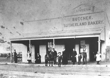 Stapleton's Butcher Shop at Sutherland,in southern Sydney in the early 1900s.