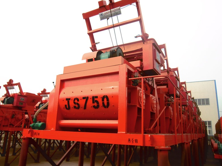 Concrete Mixer JS750 http://www.nf-brick-making-machine.com/concrete-mixer/js750.html