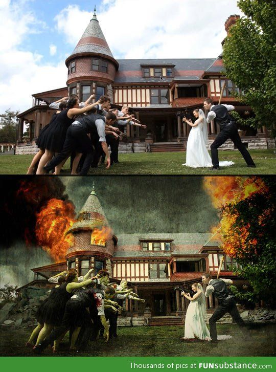 Zombie wedding - I'm supposed to meet with the photographer this weekend ... Maybe we can fit this in ...