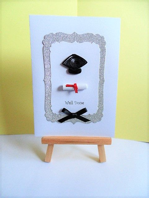 Graduation card, well done card, greeting card, handmade card, graduate card, quilled card, college graduation, paperquilling, Graduation