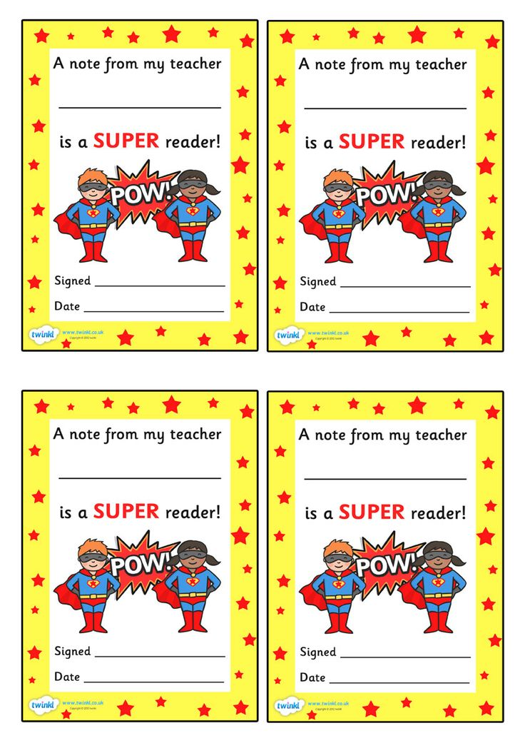 Twinkl Resources >> Note FromTeacher Super Reader >> Thousands of printable primary teaching resources for EYFS, KS1, KS2 and beyond! teachers note, super reader, reading, award, reward, celebration, super pupil