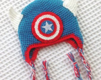 Image result for captain america beanie free crochet pattern