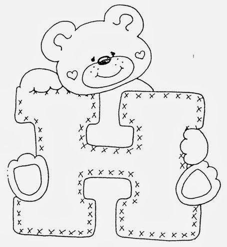 Artesanato e Cia : Alfabeto de ursinhos