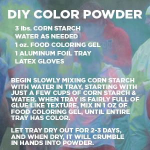 make your own hold powder tempera powder paint