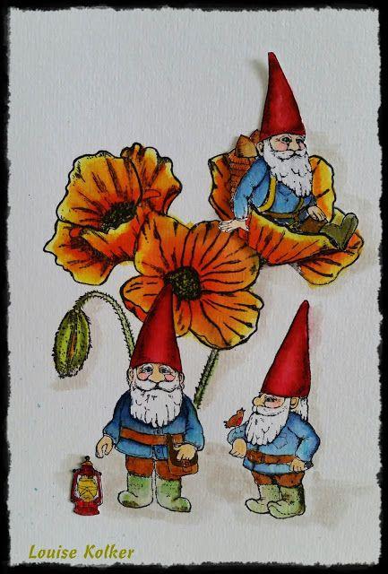 Art Journey Design-team: Drie kaboutertjes/ Three gnomes