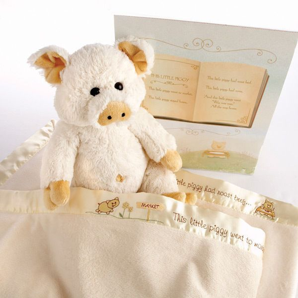 "BABY ASPEN ""Pig in a Blanket 2 Piece Gift  100% cotton unisex #BabyAspen"