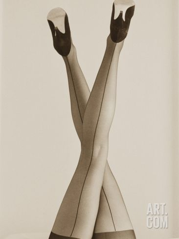 Long Legs in Sexy Stockings Photographic Print by Tom Marks at Art.com