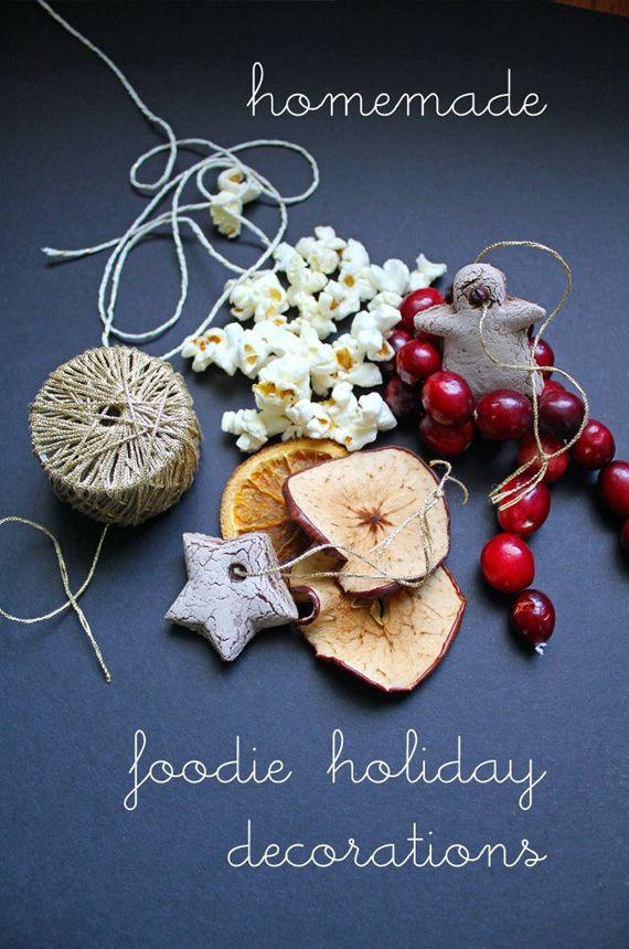 Guirnaldas comestibles festivas navidad adornos pinterest Homemade christmas decorations nz