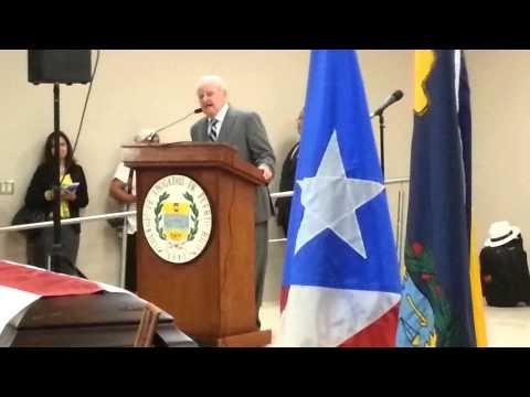 Honras en versos a La Madre en ocasión del velorio del licenciado David Noriega en el Colegio de Abogados de Puerto Rico