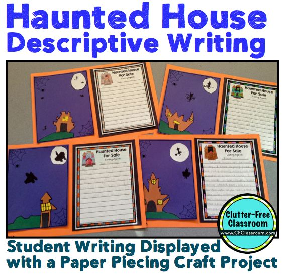 best descriptive writing activities ideas haunted house for descriptive writing activity common core writing halloween craft