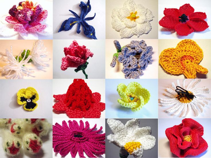 CROCHET FLOWER PATTERNS – 365 Crochet Flowers Bouquet Project