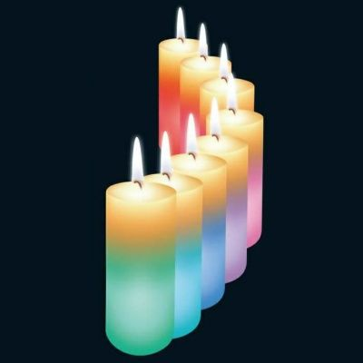 Väriä vaihtava oikea kynttilät!