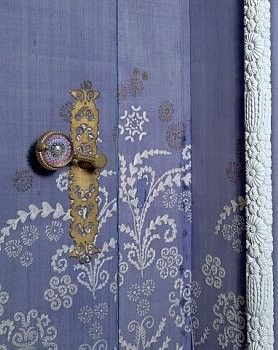periwinkle #blue hand painted door