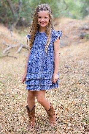 Wildflower Prairie Fields Dress by Blu Pony Vintage