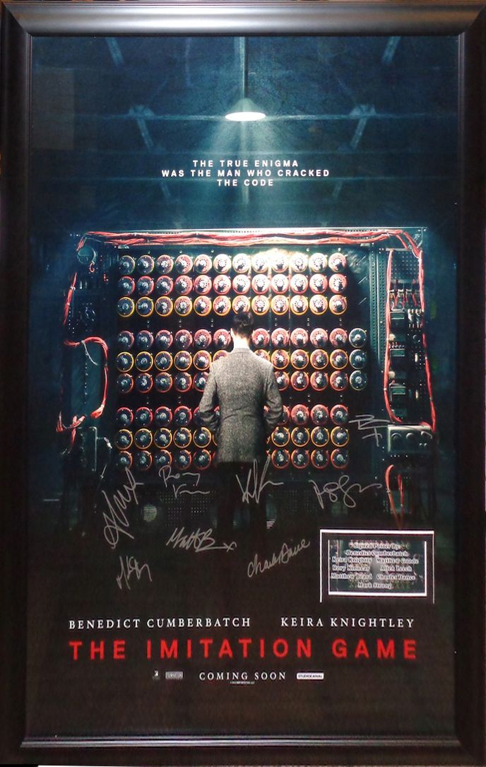 Antiquities LV - The Imitation Game Cast Signed Poster , $1,695.00…