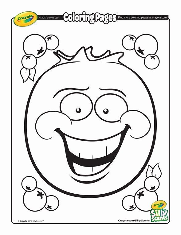 Crayola Valentine Coloring Pages Best Of Silly Scents Blueberry