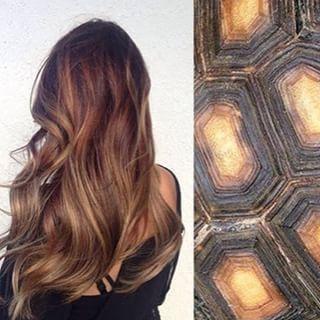 A inspiração vem do casco das tartarugas e a ideia é dar um efeito multidimensional no cabelo, com reflexos louros, mel e castanhos de uma tacada só. | Conheça o #efeitotartaruga, a hashtag que está bombando no Instagram