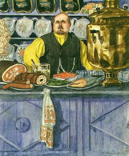1920 Restaurant Owner by Boris Kustodiev (1878~1927)