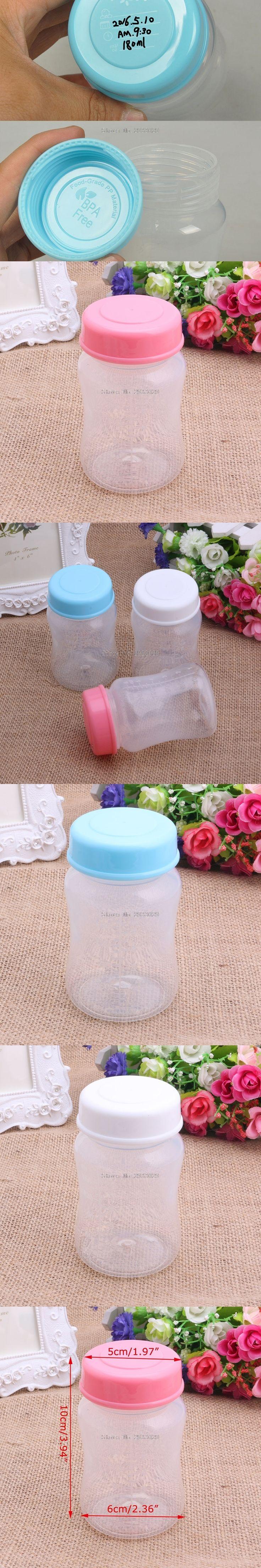 180ML Breast Milk Collection Storage Wide Neck Bottles BPA Free Storage Bottle -B116