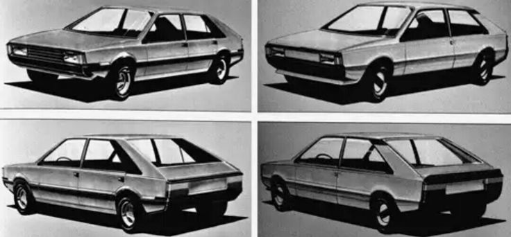 FIAT x1/34 FSO POLONEZ design sketches