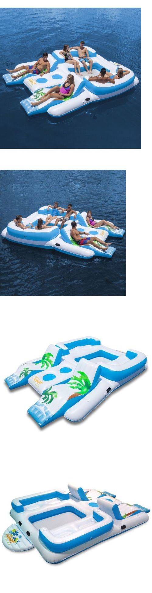 Inflatable Floats and Tubes 79801: 6 Person Oasis Island Lake Floating River Water Pool Inflatable Lounge Seat Raft -> BUY IT NOW ONLY: $145.99 on eBay!