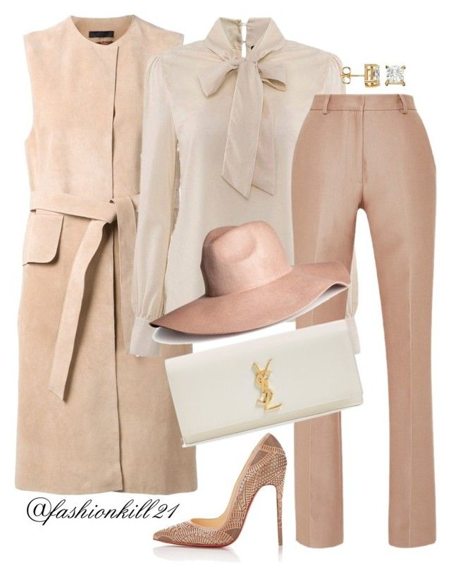 She wears it well by fashionkill21 on Polyvore featuring The Row, Zac Posen, Christian Louboutin, Yves Saint Laurent and H&M