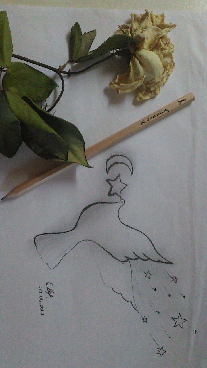 Ebru adlı kullanıcının çizim panosundaki Pin