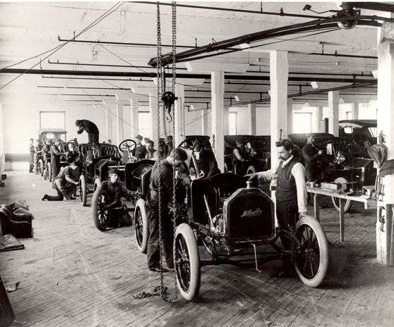 McLaughlin Motorcar Company Assembly Line, 1908,  Mary and William Street