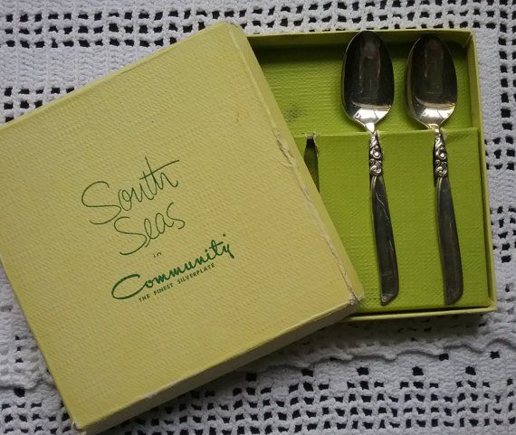 South Seas Demitasse Spoons Community Silverplate Spoons