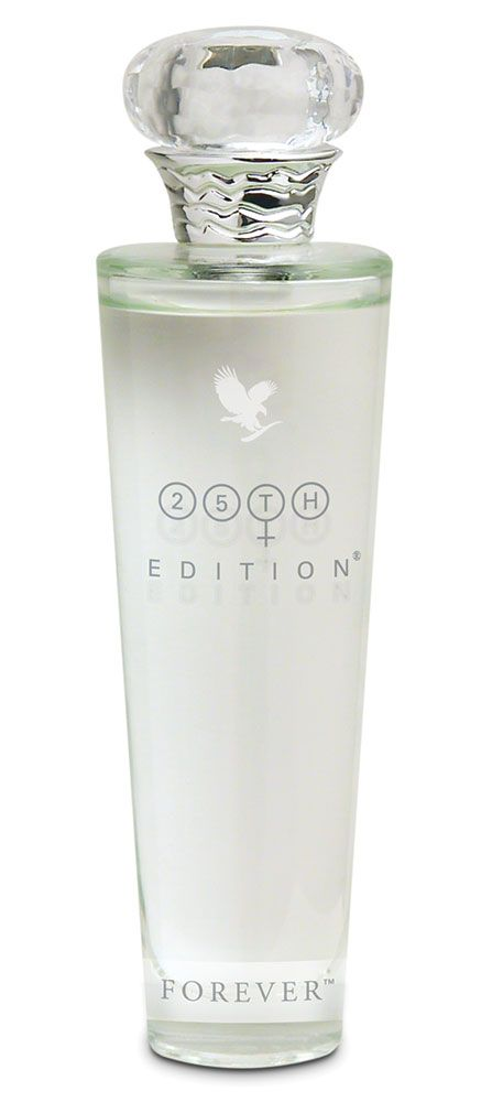 Forever Living - 25th Edition Eau de Parfum for Women. A fresh, white floral bouquet that blends sheer petals with warm, musky woods to create a soft feminine character for the most elegant woman. Visit www.global-forever.com