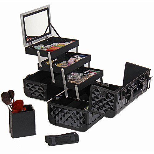 Makeup Artist Artists Cosmetics Train Case Trave Bag Unique Black Diamond NEW #SHANYCosmetics