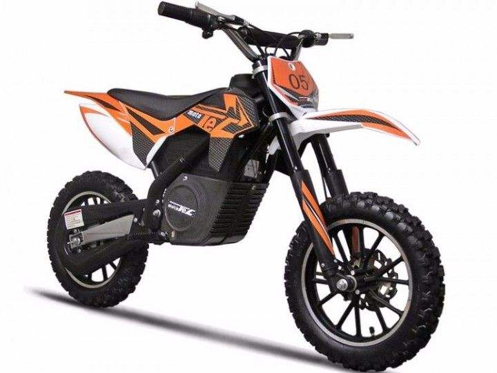 Mototec Orange Electric Kids Dirt Bike 24v 500w 16 Mph Front And Rear Disc Brakes Dirt Bikes For Kids Electric Dirt Bike Cool Dirt Bikes