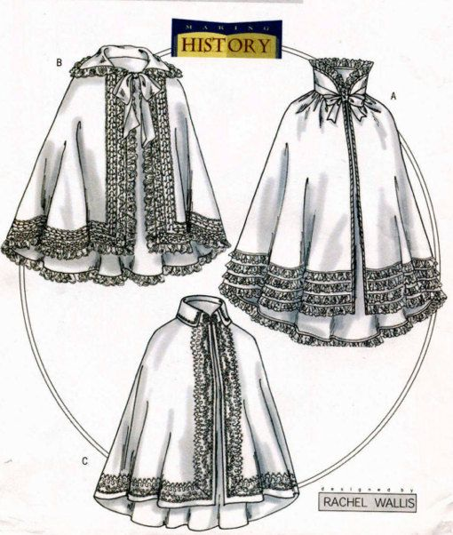 Vintage CAPE CLOAK PONCHO Costume Sewing Pattern