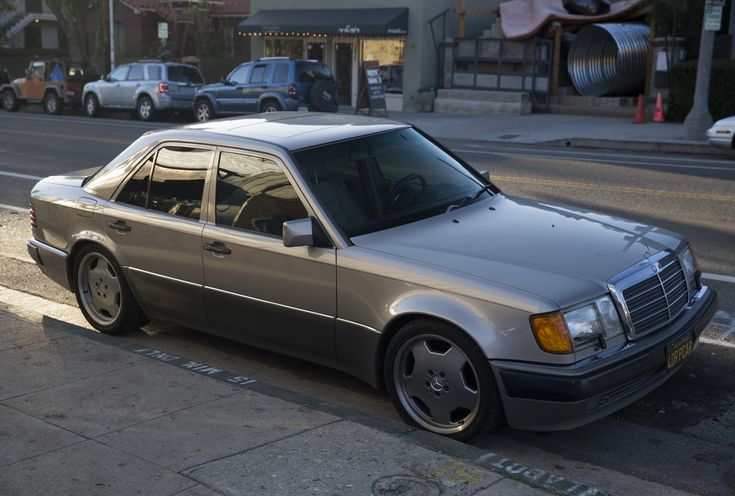 "1992 Mercedes-Benz 500E | I'm not sure what ""4DRPCAR"" means exactly. Pony car? Stunning car, though, I even like the aftermarket wheels. In a trendy part of LA."
