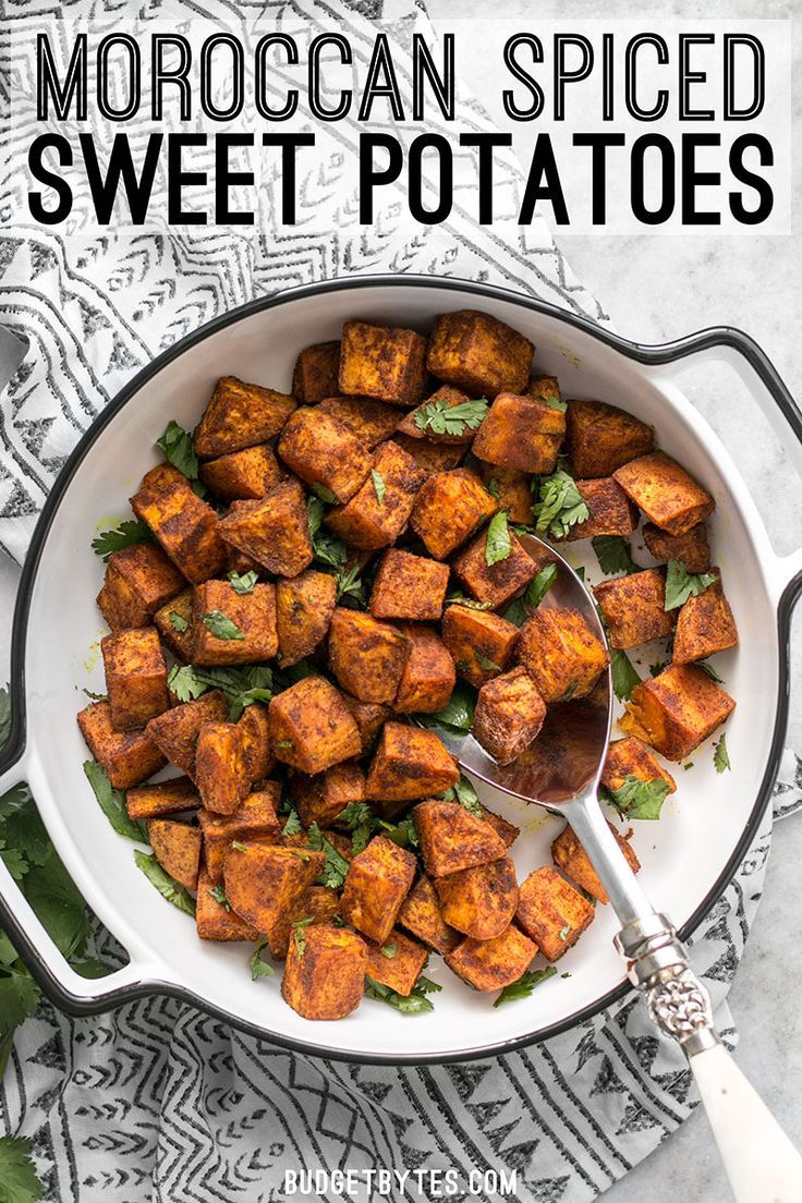 Spicy, aromatic, and earthy, these Moroccan Spiced Sweet Potatoes will add an adventurous flavor to any dinner!
