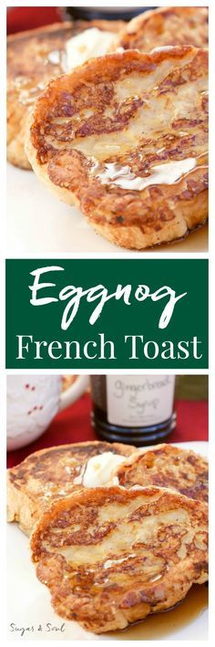 Amp up your Christmas breakfast with this Eggnog French Toast drizzled in sweet Gingerbread Syrup!