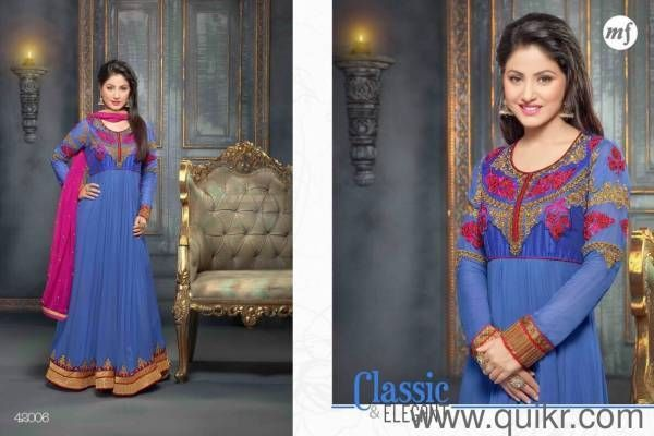 Anarkali Suit Indian Wedding Partywear Designer Traditional Salwar Kameez BLUE,,