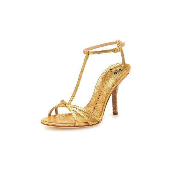 Lizard T-Strap Sandal ($299) ❤ liked on Polyvore featuring shoes, sandals, heels, t strap sandals, leather heeled sandals, leather t strap sandals, ankle strap sandals and high heel shoes