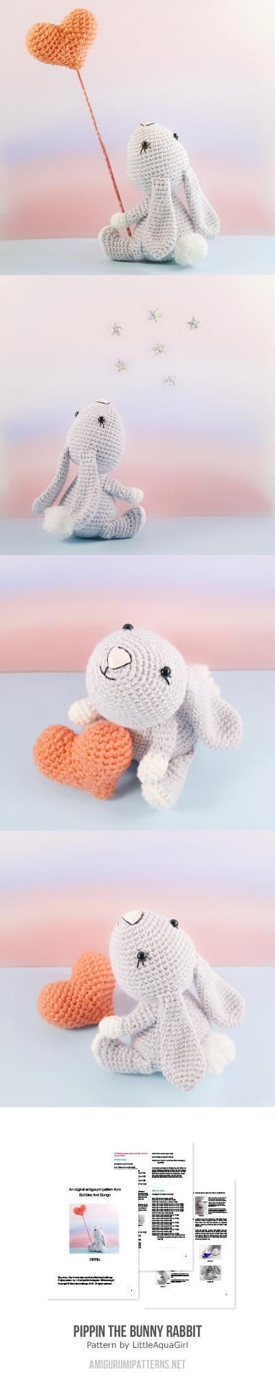 Pippin The Bunny Rabbit Amigurumi Pattern sweet