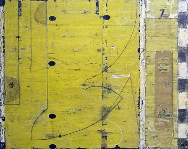 Michael Shemchuk - E seven 7, Mixed Media on Panel and Wood