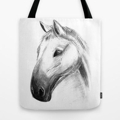 Horse Tales Tote Bag by clickybird - Belinda Gillies - $22.00