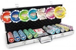 Mallette Laser Las Vegas 500 jetons - Pokeo.fr - Mallette de poker en aluminium 500 jetons Laser Las Vegas en PP stické 11,5g + 2 jeux de cartes en carton plastifié + 1 livret de règles du jeu Pokeo.
