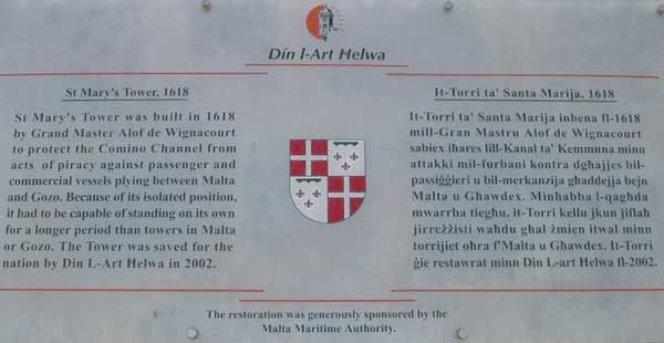 152 The plaque fixed near the entrance to the Tower.