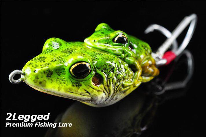 Premium bass pike fishing lure handmade topwater decoy for Frog fishing lures