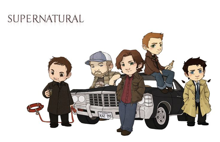 I don't normally like this kind of art but this one is good. Love Crowley and his Hellhound. #Supernatural
