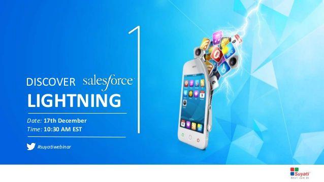 A webinar on salesforce lightning