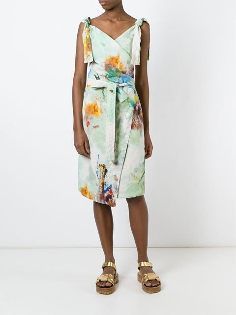 "Vivienne Westwood Anglomania  платье с запахом и узором ""тай-дай"""