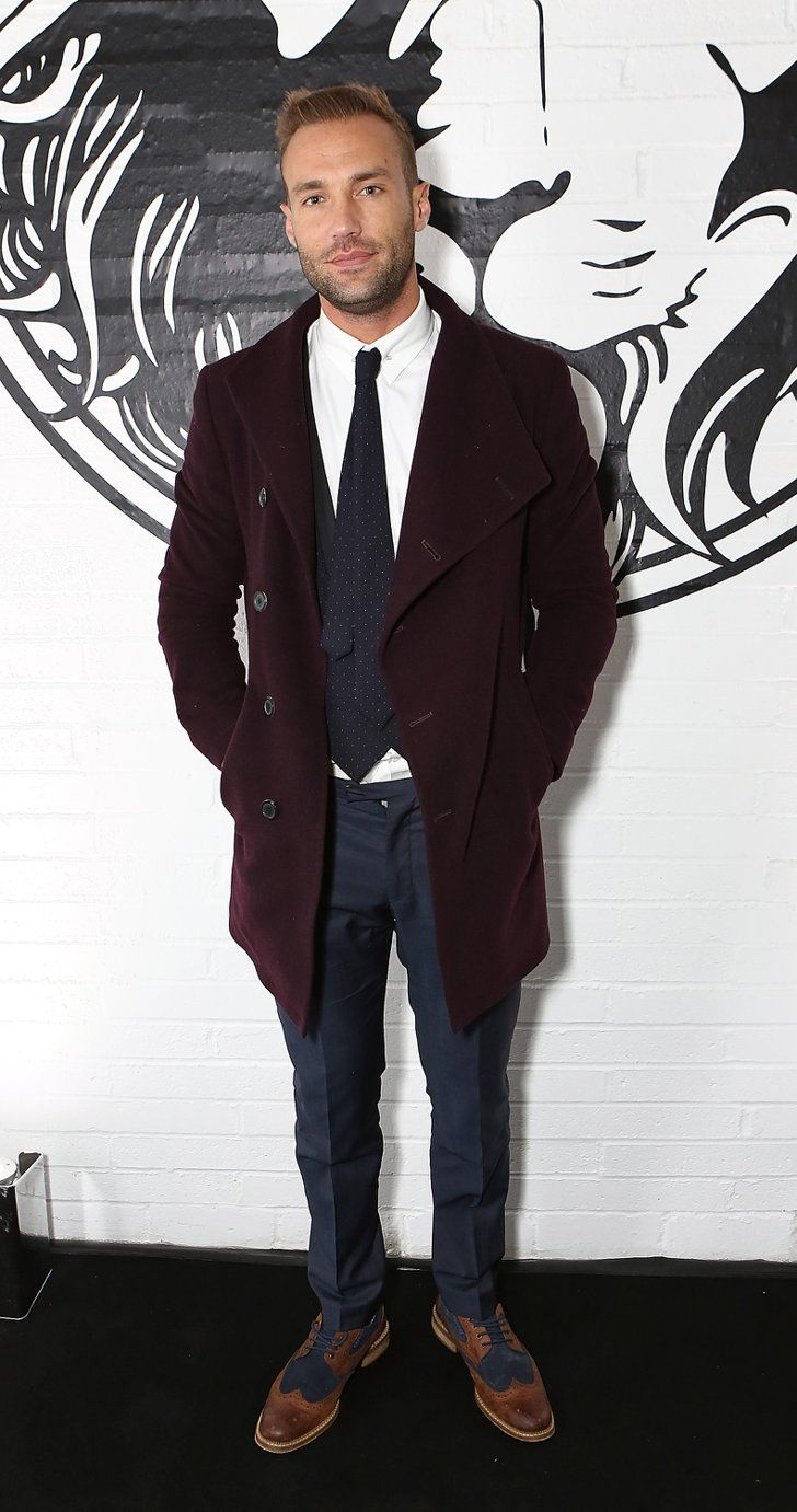 Pin for Later: Celebrities Were Sitting Pretty in the London Fashion Week Front Row Calum Best Calum looked very dapper at the Versus Versace show.