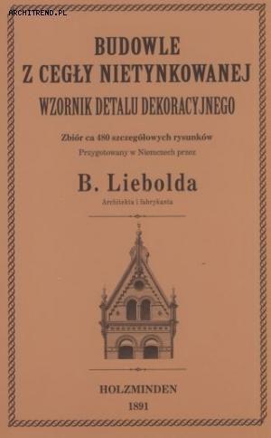 Budowle z cegły nietynkowanej. Wzornik detalu dekoracyjnego 1891 Reprint
