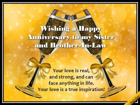 Anniversary sister brotherinlaw ecard greetings